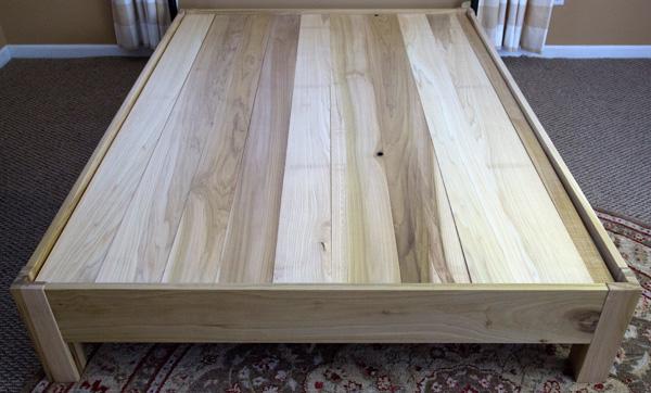 Natural Poplar Wood Platform Bedfram Hand Made By Amish Manufacturers