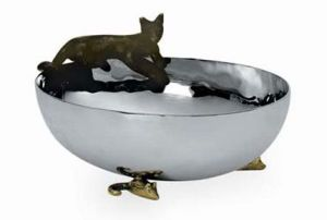 Decorative bowl with cat