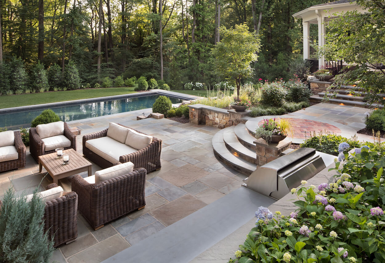 should you use flagstone or pavers in