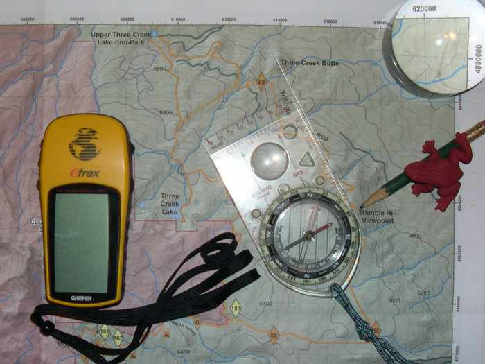 GPS Device Maps & Compass