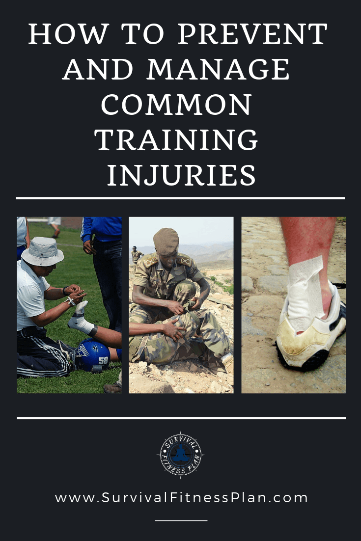 Get Your FREE Emergency First Aid Cheat Sheet | Discover how you can prevent and manage common basic fitness training injuries #sportsinjuries #firstaid #running #sportsinjury #physio #trauma #physiotherapy #backache #health https://www.survivalfitnessplan.com/common-basic-training-injuries