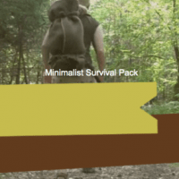 Minimalist survival pack for 72 hour survival