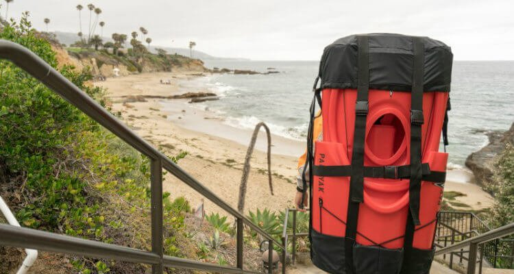 Survival kayaking has become a reality with carrying your kayak on your back