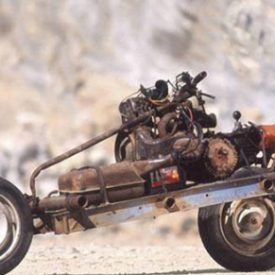 A Mad Max style survival motorcycle