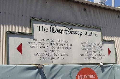 Walt Disney Studio Sign