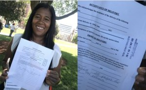 WATCH: Michigan SOS Candidate Kristina Karamo Delivers +7,500 Affidavits Demanding Forensic Audit to Dishonest Jocelyn Benson – BUT HER OFFICE WON'T ACCEPT THEM!