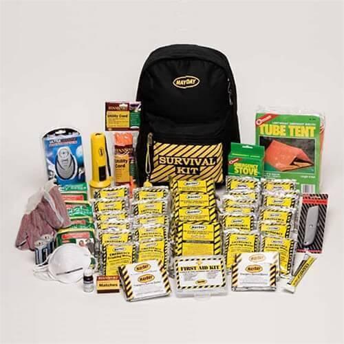 survival food backpack