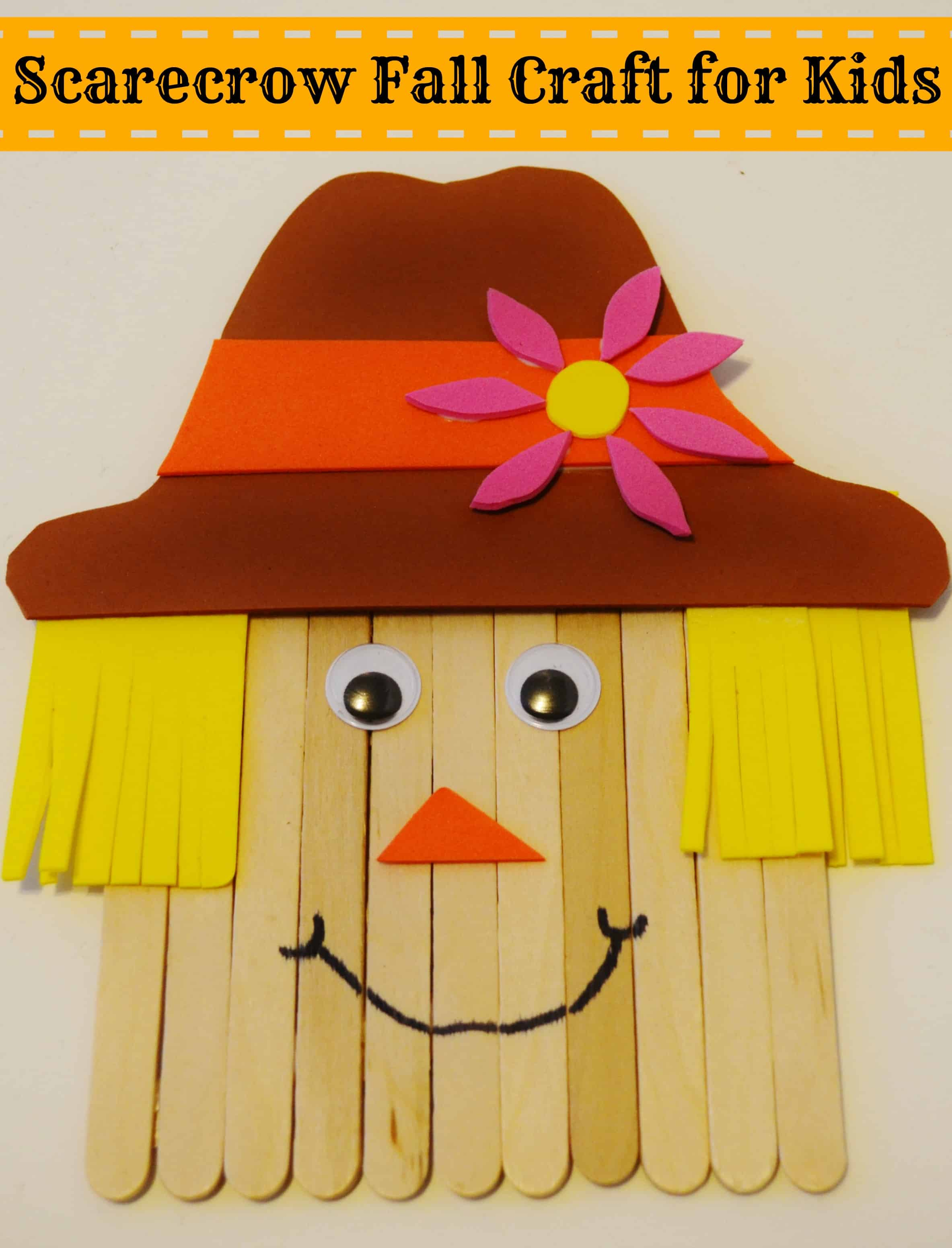 Scarecrow Fall Craft For Kids