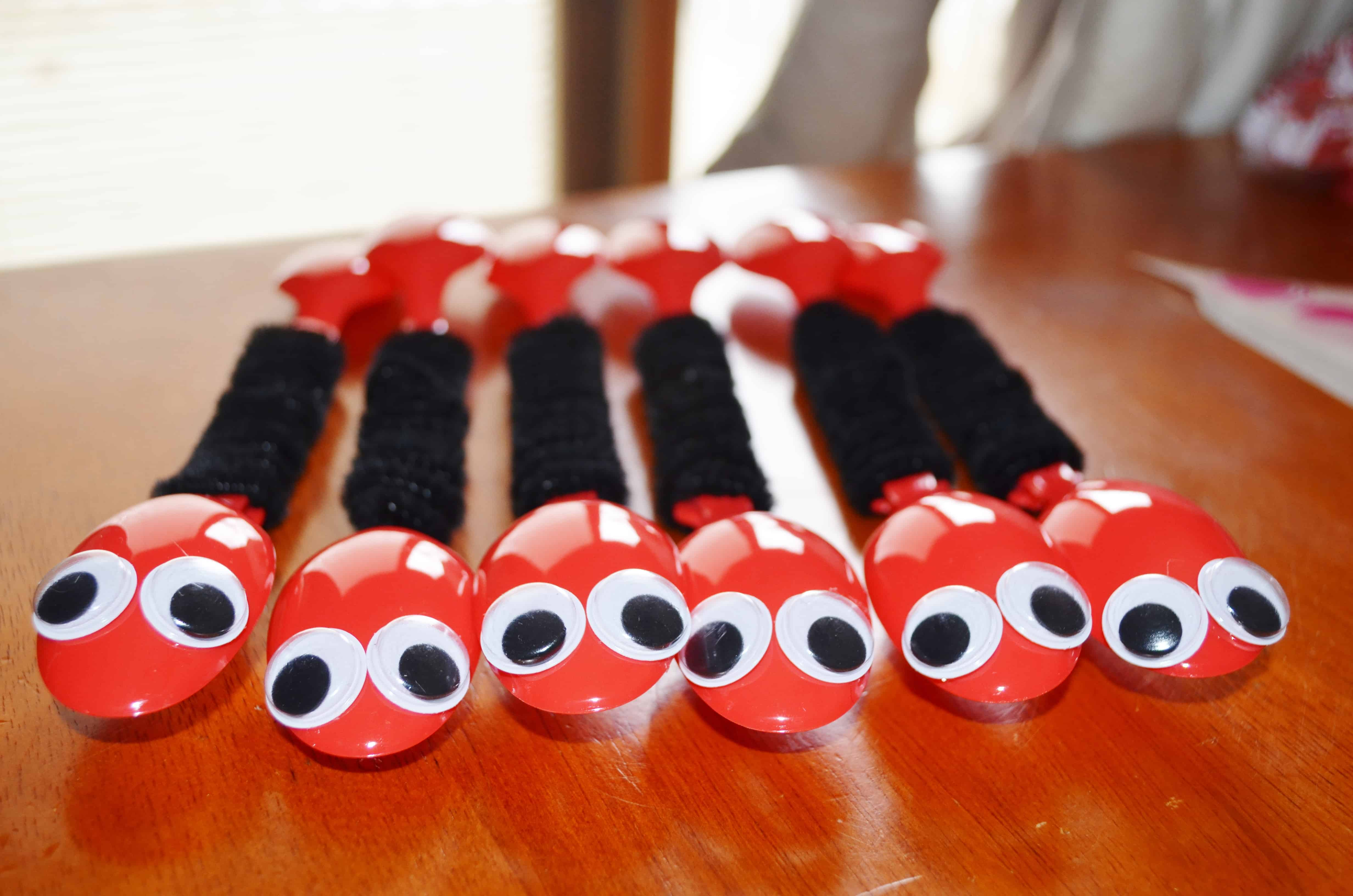 Bug Craft For Kids Ant Spoons Spring Craft Tutorial