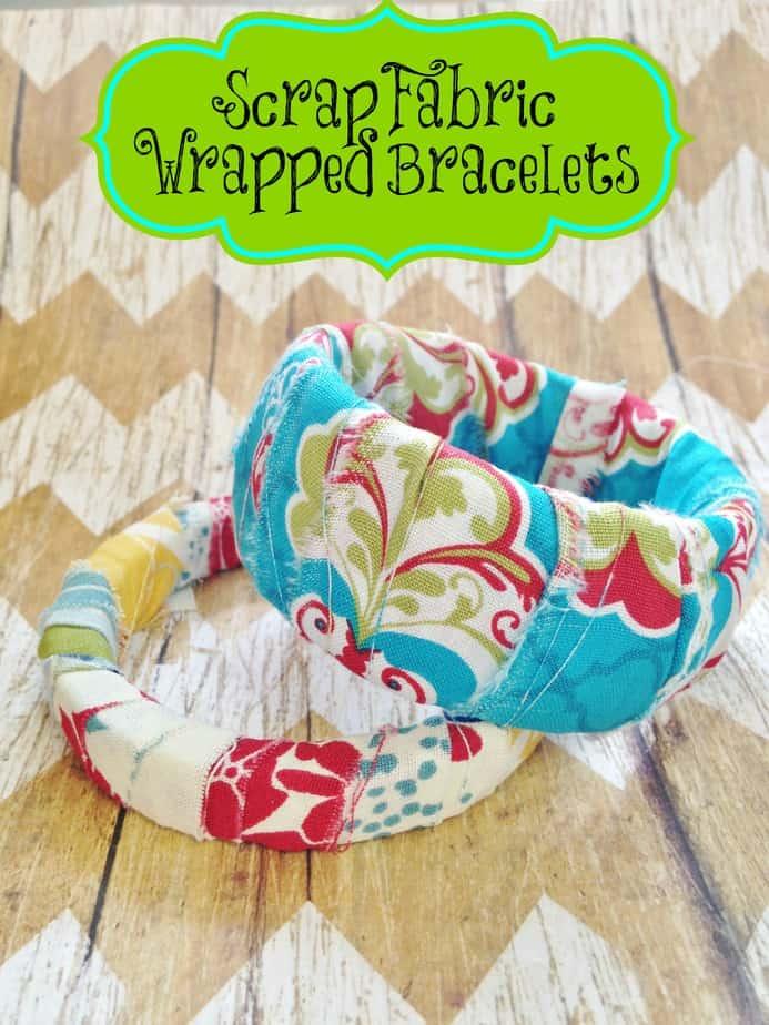 Diy Scrap Fabric Wrapped Bracelets