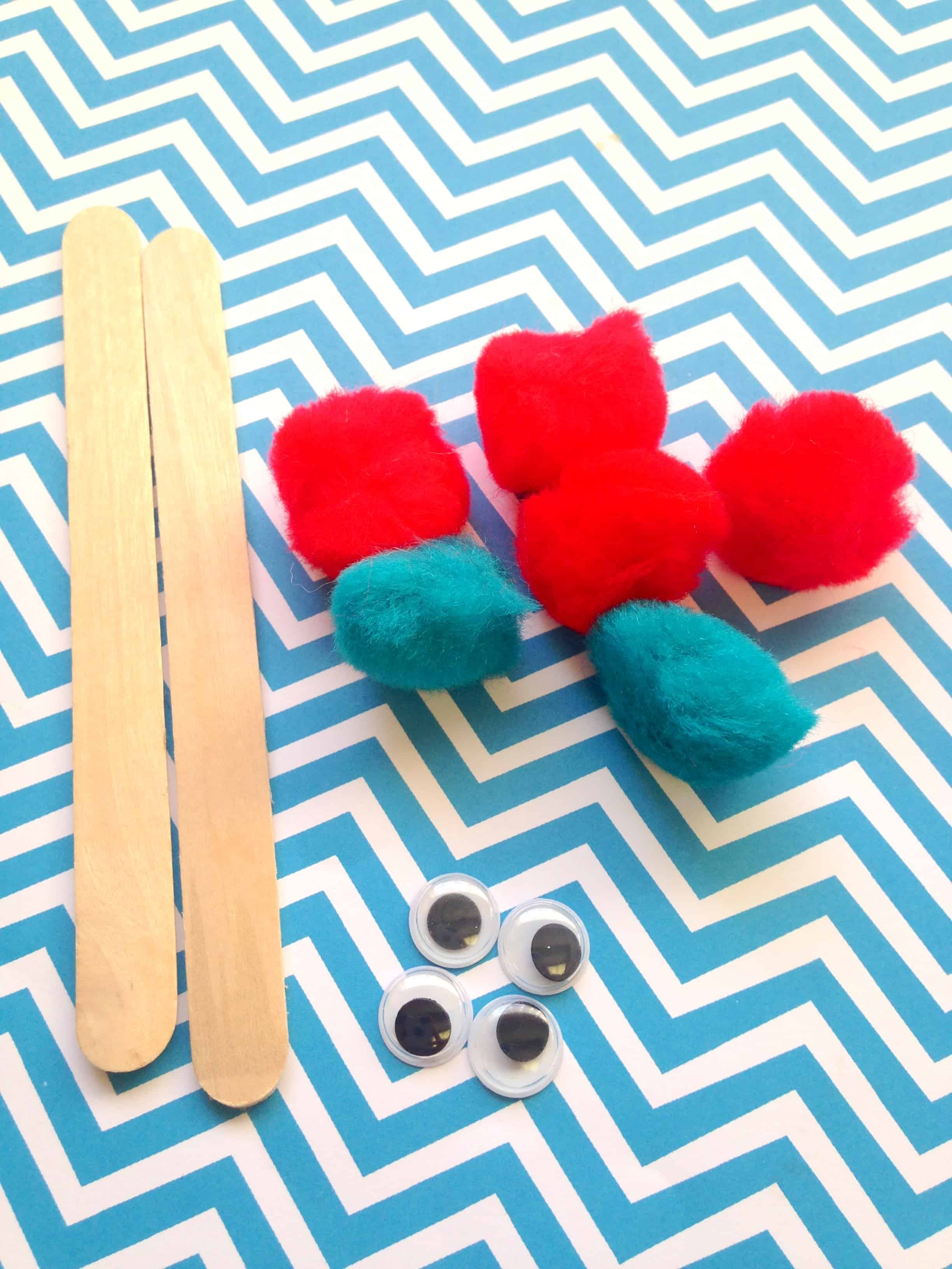Dr Seuss Thing 1 And Thing 2 Puppets Kids Craft