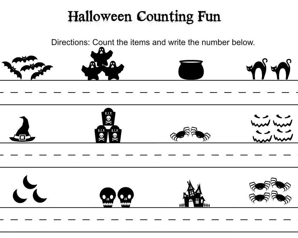 Free Halloween Word Search Amp Counting Printables