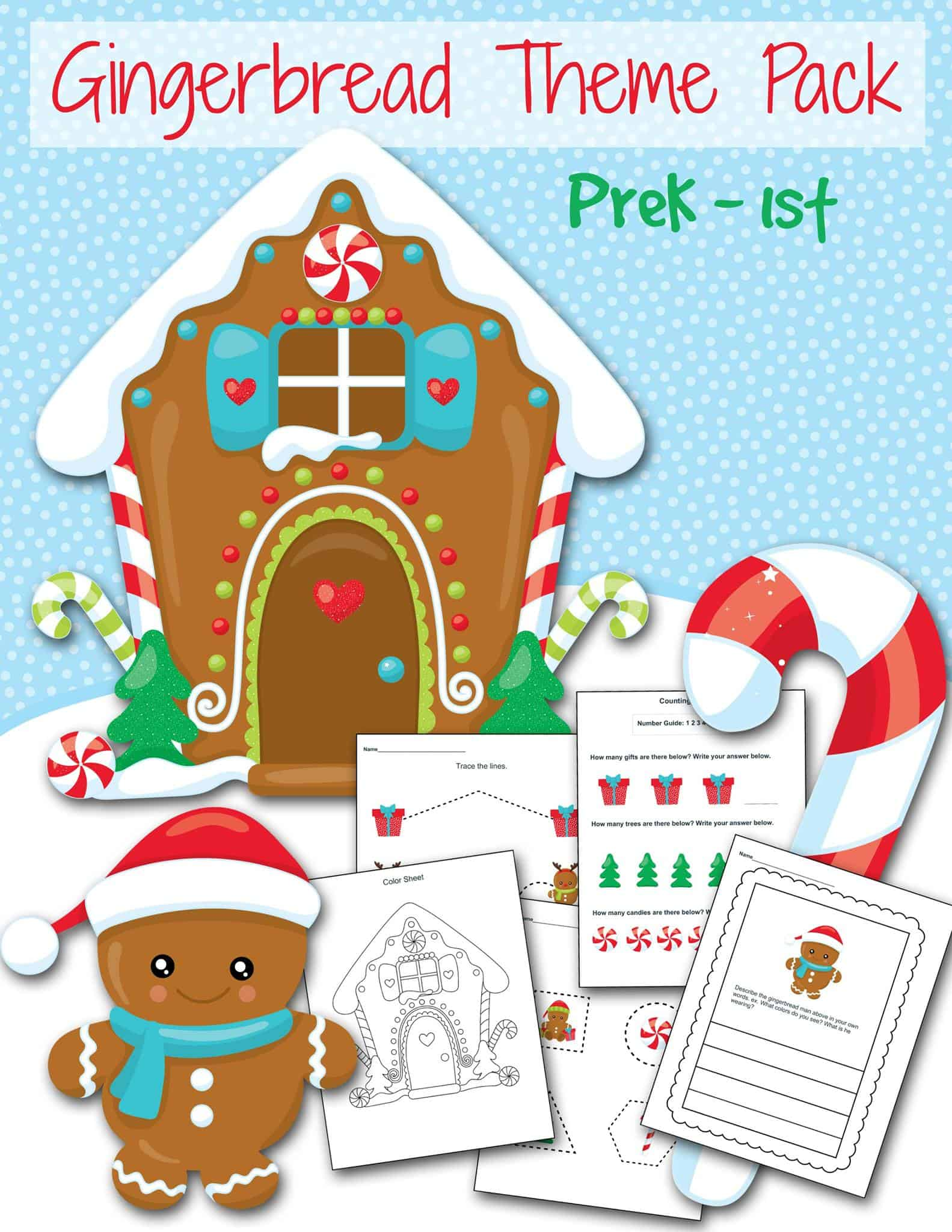 Free Gingerbread Printable Holiday Friends Preschool Craft