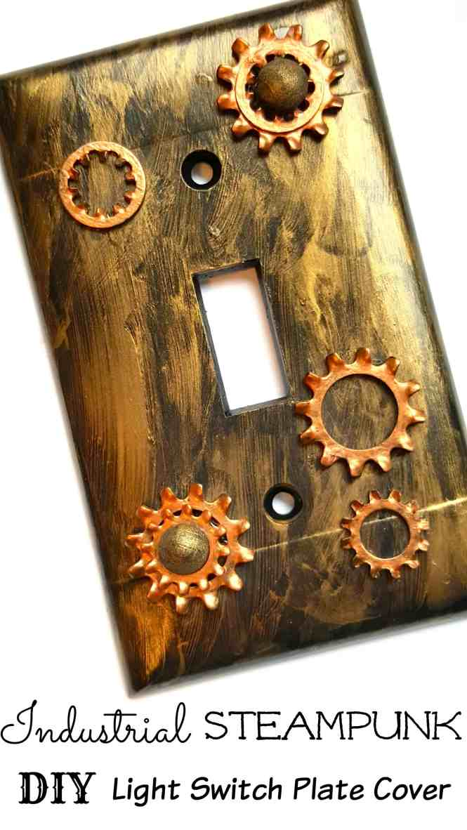 Home Decor Switch Plates Steampunk Light Wall Paintings For Decoration