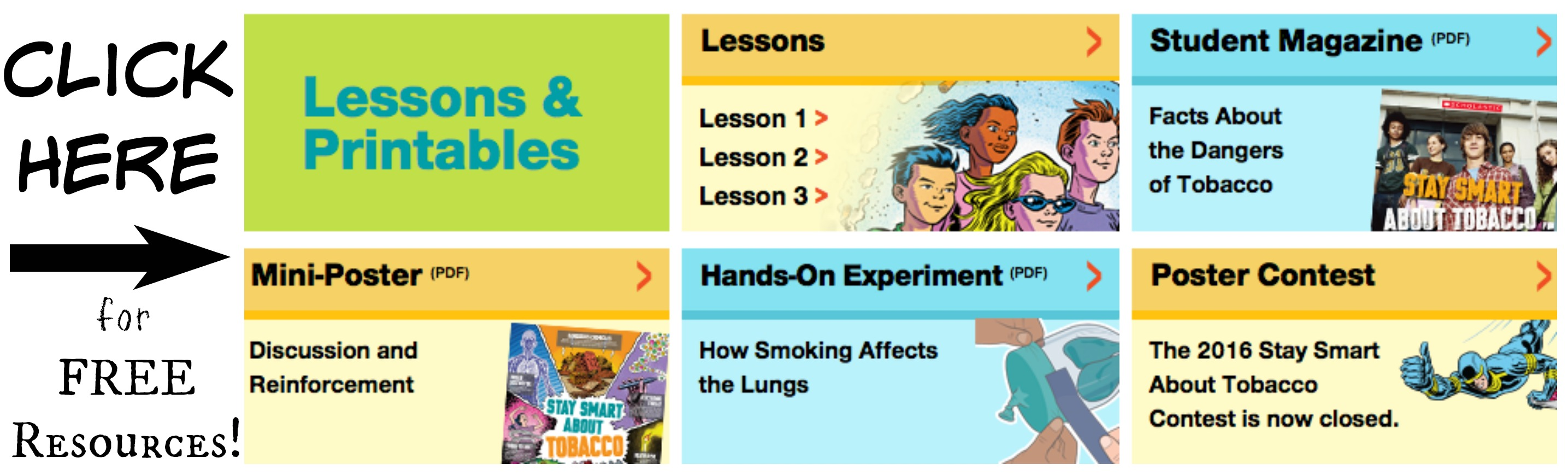 Lung Science Experiment And Tobacco Prevention Resources