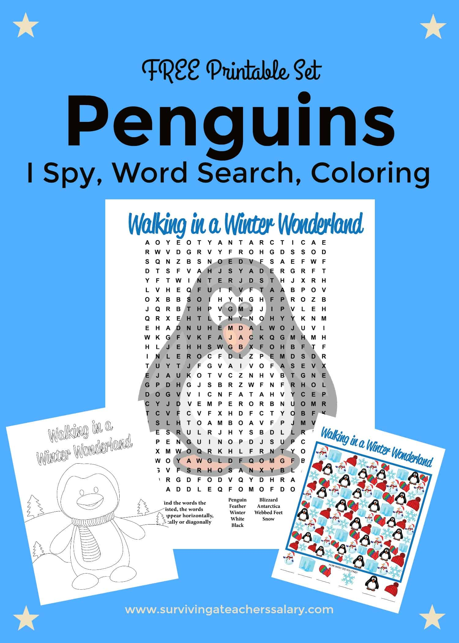 Free Printable Penguins Worksheets Coloring Sheet Word