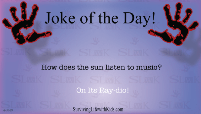 Daily Joke: How Does The Sun Listen To Music?