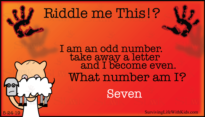 I am an Odd number. Take away a letter and I become even. What number am I?