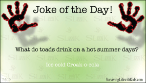 What Do Toads Drink on A Hot Summers day?