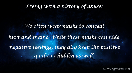 wearing masks to hide past sexual abuse-ptsd-anxiety-quotes
