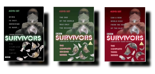 The front covers of all three Survivors DVD sets
