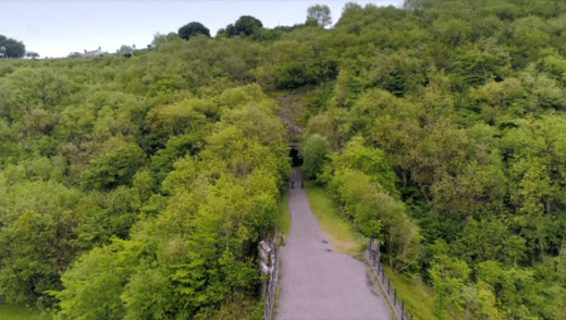 Britain by bike with Larry and George Lamb - Monsal Dale - top of the viaduct