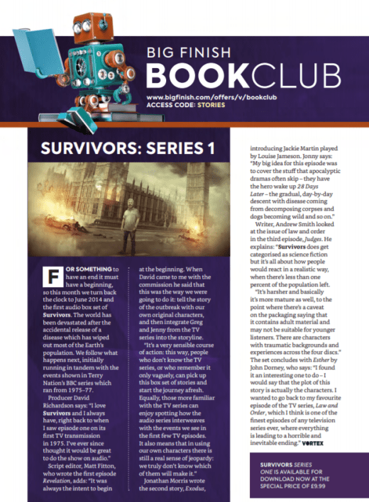 Vortex 124 - Survivors series one Book Club retrospective