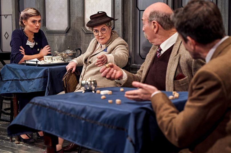 A publicity shot for the 2019 touring production of The Lady Vanishes, which features Denis Lill in the cast