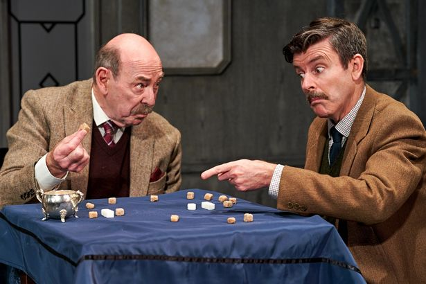 A publicity shot of Denis Lill in the 2019 touring production of The Lady Vanishes