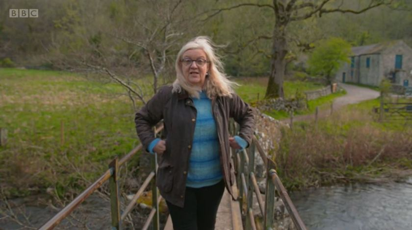 Countryfile - White Peak - May 2021 - Presenting from the footbridge near to Netherdale Farm