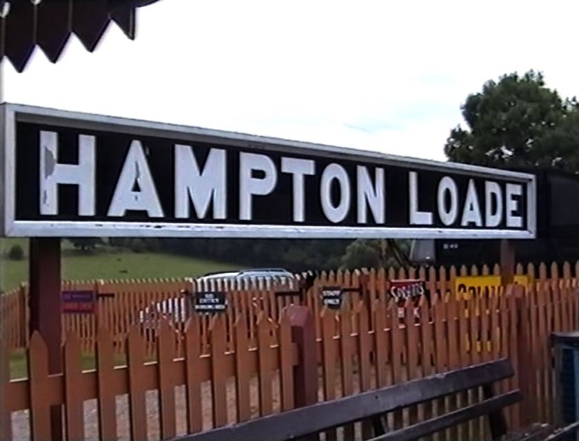 The sign for Hampton Loade station, taken on August 30 2001