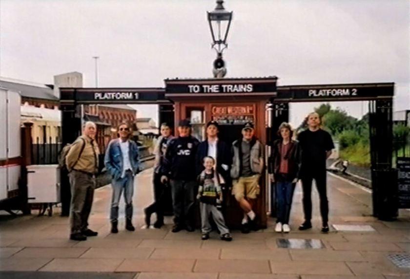 Survivors fans at Kidderminster station on August 30 2001