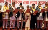काठमाण्डौका मेयर, उपमेयर र वडाध्यक्षहरुले लिए यसरी सपथ