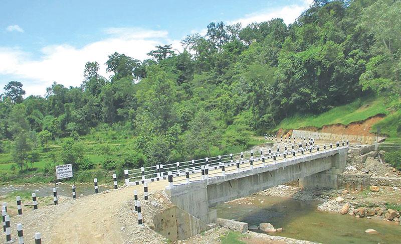 हनुमन्ते खोलामा नवनिर्मित पुल सञ्चालनमा