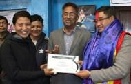 पूर्ब सदस्यसचिब श्रेष्ठलाई बधाई