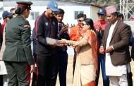राष्ट्रपति भण्डारीद्वारा प्रथम क्रिकेट महोत्सवको उद्घाटन