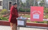प्रदेश ४ मा राष्ट्रियसभा सदस्य निर्वाचनको मतदान हुंदै