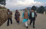 भाजपा बरिष्ठ नेता बिजय जोली चन्द्रागिरि केबलकारको भ्रमणमा