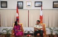 प्रधानसेनापति र बंगलादेशी राजदुत बीच शिष्टाचार भेटवार्ता