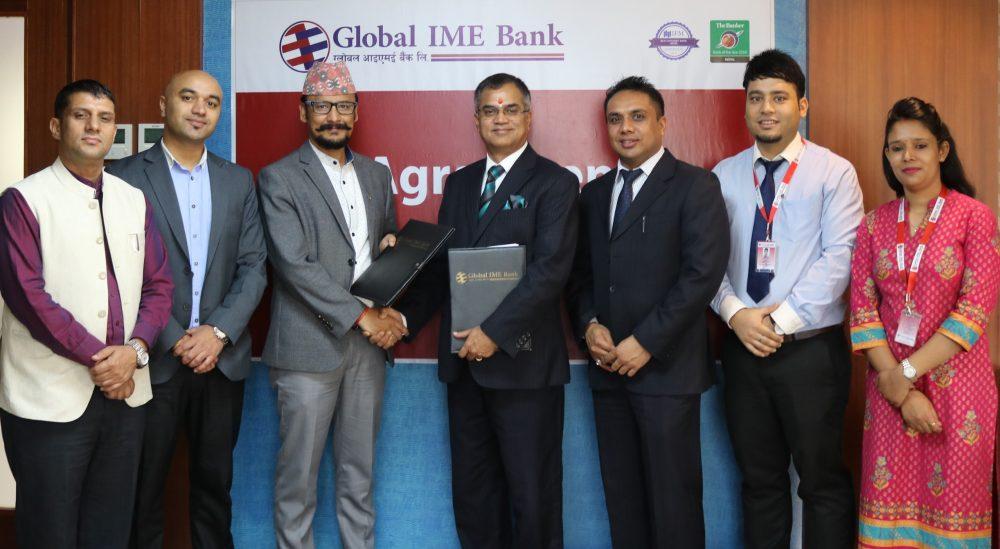 ग्लोबल आइएमई बैंक र चन्द्रागिरिहिल्स बीच सम्झौता