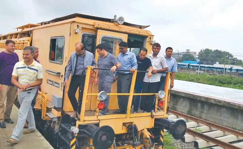 नेपालको भूमि जनकपुरबाट गुड्यो रेल, तीन वर्षभित्र पूरै रुटमा रेल गुड्ने प्राविधिकको दाबी