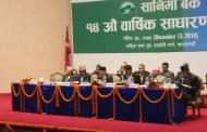 सानिमा बैंकको १४ औं साधारण सभा सम्पन्न, १४ प्रतिशत नगद लाभांश प्रदान गर्ने