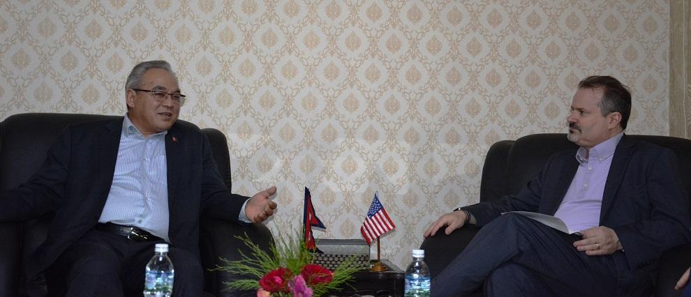 मन्त्रालयमा भएको भेटवार्ता नेपाल–अमेरिका आपसी सम्बन्ध