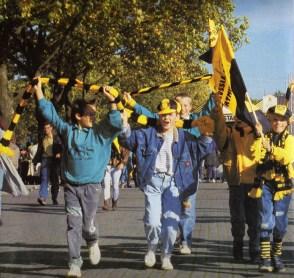 D-Jugend 1990 in Dortmund v.l. Marco Gebhardt, Thomas Ebel, Oliver Gabriel, Marcus Gerstmann, Sebastian Koch.