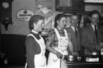 Karneval V.l. Elisabeth Langohr, Irmgard Budde, August Seithe, Helmut Seithe