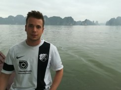 Marcel Siering in der Halong Bucht in Vietnam 19.03.2018