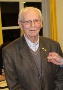 Willi Vickermann * 18.01.1928 † 02.05.2018 hier bei Ehrung des SuS zur 70-jährigen Mitgliedschaft im März 2016