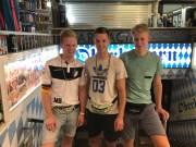 Michel, Nikolai und Moritz Berz vor dem Oberbayern auf Mallorca am 25.08.2018