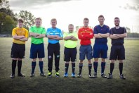 Unsere Schiedsrichter: V.l. Luca Rohde, Gerd Naake, Thomas Ostgathe, Michael Westerhoff, Marcell Siering, Peter Pyka, Jens Hagedorn