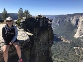 Anja Britten amTaft Point, Yosemite National Park, Kalifornien USA am 07.10.2018